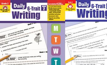《Daily 6-Trait Writing》G2-G6 写作练习册原生PDF 百度云网盘下载