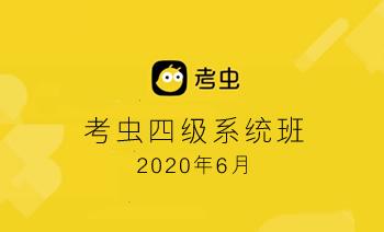 《2020年6月考虫四级系统班》英语备考课程 MP4视频+MP3音频 百度云网盘下载