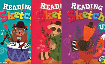 《Reading Sketch Up 1/2/3》适合幼儿园小学英文练习册PDF 百度云网盘下载