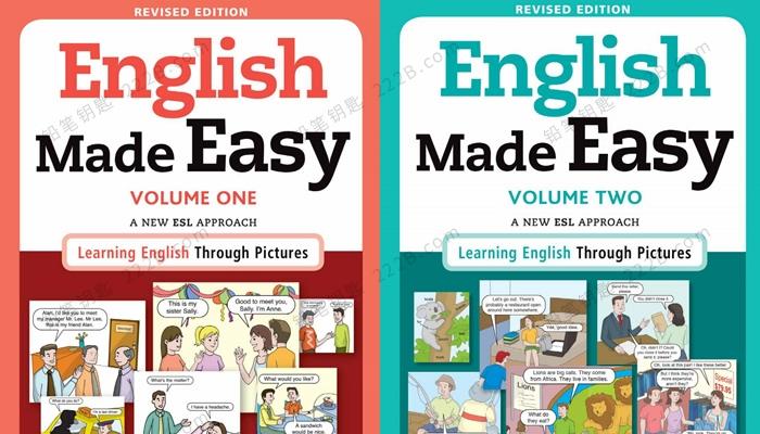 《English Made Easy》情景英文对话图解英语两册 百度网盘下载