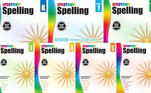 《Spectrum Spelling Workbook》儿童拼写英文练习册原生PDF 百度云网盘下载