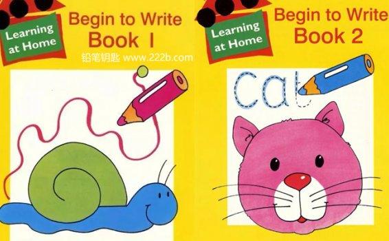 《Begin to Write Book 1+2》字母书写入门英文练习册PDF 百度云网盘下载
