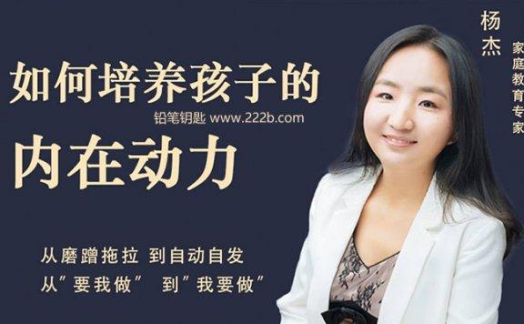 《杨杰:如何培养孩子的内在动力》解决亲子问题MP3音频 百度云网盘下载