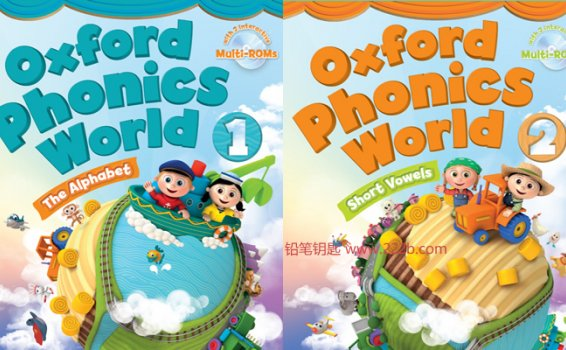 《Oxford Phonics World牛津拼读世界1-5册》高清PDF音频视频 百度云网盘下载