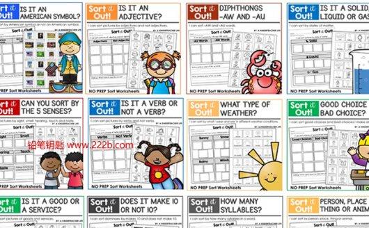 《Sort it out分类练习册365页》孩子英语启蒙必备PDF 百度云网盘下载