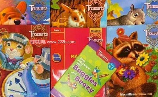 《加州语文Treasures全套练习册》G1-G6小学英文语法拼写 百度云网盘下载