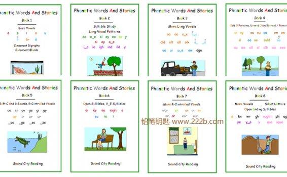 《Phonics Patterns And Stories系列》自然拼读+高频词作业纸 百度云网盘下载