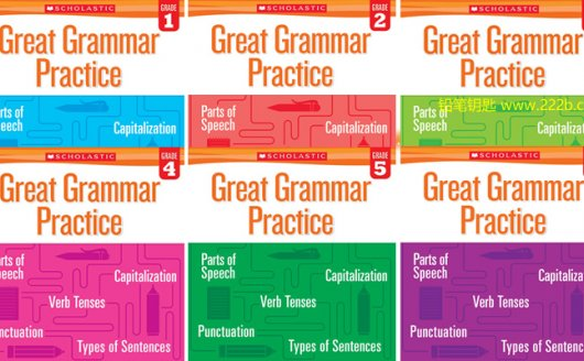 《Great Grammar Practice》1-6级全套小学语法练习册PDF 百度云网盘下载