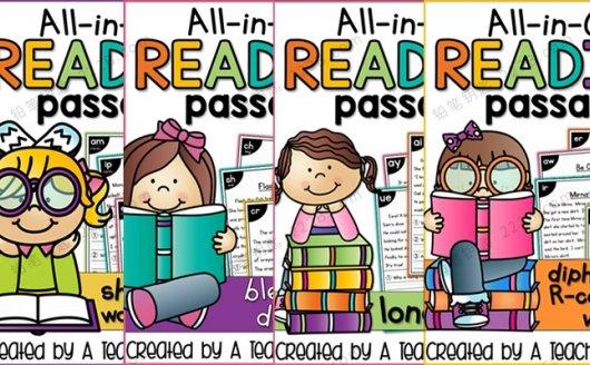 《All in One Reading Passages Bundle》自然阅读小短文练习册PDF 百度云网盘下载