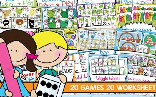 《NUM 30 Ultimate Pack 01》20册数学游戏互动素材PDF 百度云网盘下载