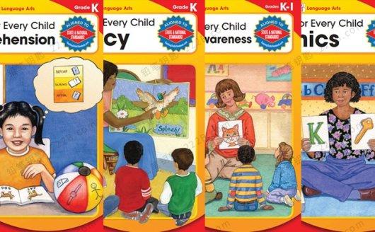 《Reading for every child》四册K系列阅读理解练习册PDF 百度云网盘下载