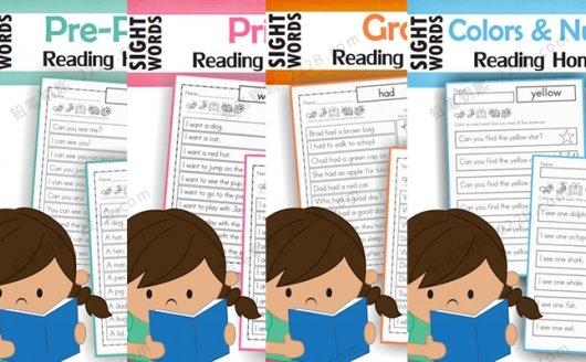 《sightword reading homework》全四册高频词阅读练习册 百度云网盘下载