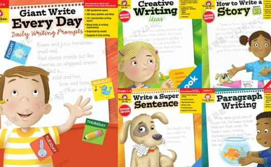 《How to Write A Story》5册儿童写作英文练习册PDF 百度云网盘下载