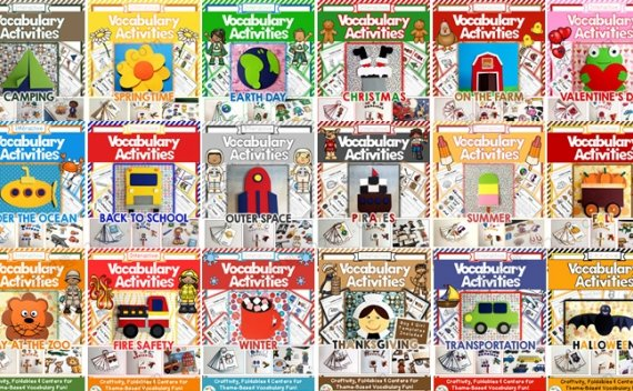 《Vocabulary Activities系列资源包》24套风琴书主题英语PDF 百度云网盘下载