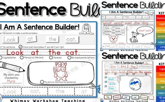 《Sentence Building》K1/K2/K3 英语造句启蒙练习册PDF 百度云网盘下载