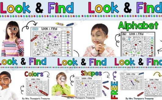 《Look&Find》五册寻物查找专题游戏PDF 百度云网盘下载