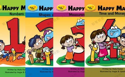 《快乐数学HappyMaths》四册英文原版教材PDF 百度云网盘下载