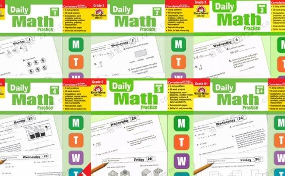 《Daily Math Practice G1-G6》全6册每日练习数学教材PDF 百度云网盘下载
