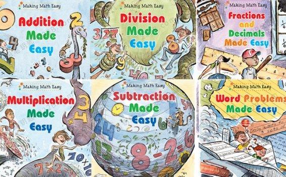 《Making Math Eas》全六册数学思维英文桥梁书PDF 百度云网盘下载