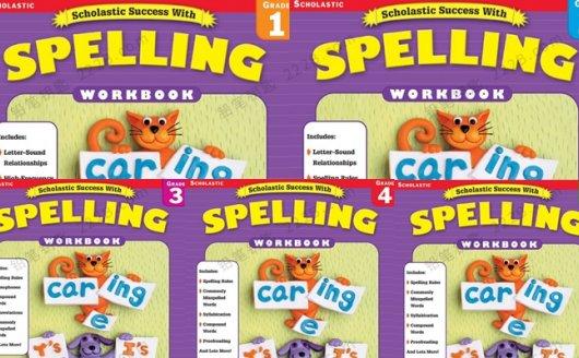 《success with spelling》5册单词拼写英文练习册PDF 百度云网盘下载