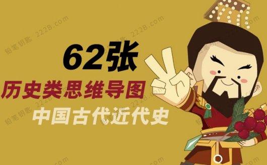 《62张历史类思维导图》中国古代近代史PDF 百度云网盘下载
