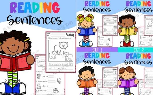 《Reading Sentences》全5册英语阅读句子练习纸PDF 百度云网盘下载