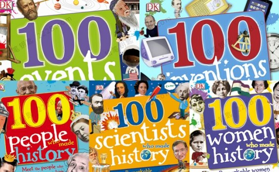 《100 in History》五册DK历史人物事件杂志PDF 百度云网盘下载