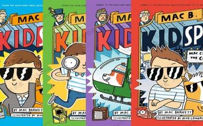 《Mac B. Kid Spy》全四册儿童侦探推理英文绘本PDF 百度云网盘下载