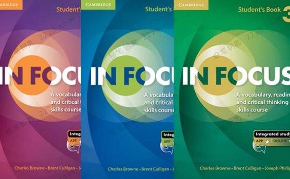 《IN FOCUS_1-3级》剑桥英语学习工具书PDF+MP3 百度云网盘下载