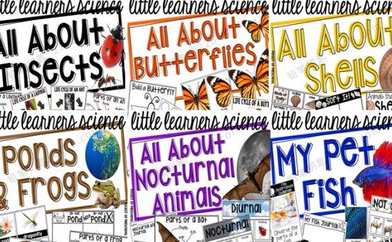 《Science for Little Learners》六册自然科学启蒙英文练习PDF 百度云网盘下载