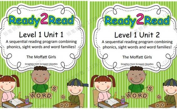 《Ready 2 Read Level 1》Unit1-8英语启蒙游戏书PDF 百度云网盘下载