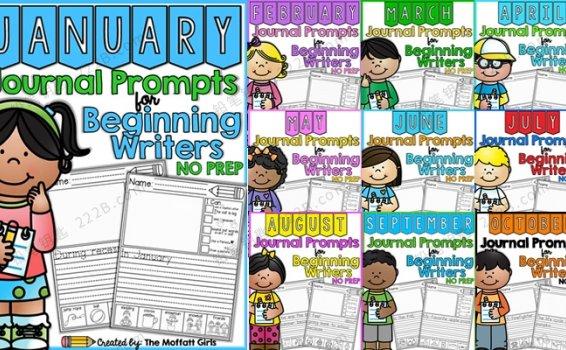 《journal prompts for beginning writers》全12册英文写作练习册 百度云网盘下载