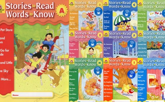 《Stories to Read, Words to Know》10册英文阅读练习教辅PDF+MP3 百度云网盘下载