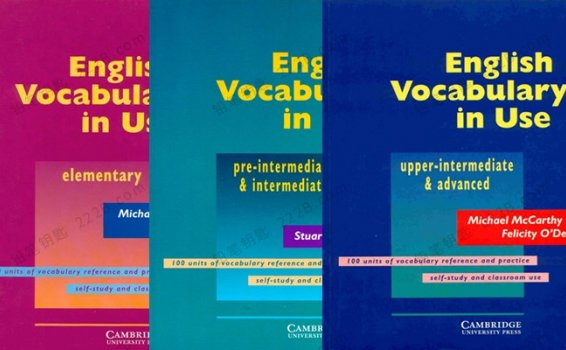 《English Vocabulary in Use》英语词汇工具书全三册PDF 百度云网盘下载