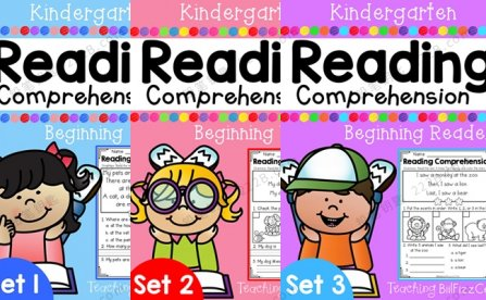 《Kindergarten Reading Comprehension》全三册阅读理解练习册PDF 百度云网盘下载
