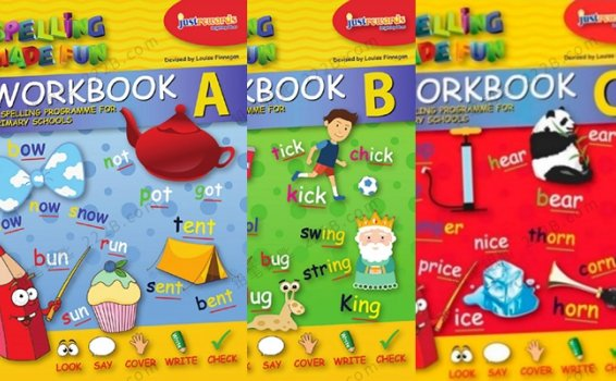 《Spelling Made Fun》三册英语拼写英文练习册PDF 百度云网盘下载