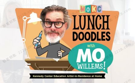 《LUNCH DOODLES with Mo Willems》22集小猪小象绘画美术课视频 百度云网盘下载