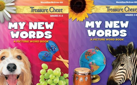 《My New Words》美国加州词汇启蒙教材+练习册PDF 百度云网盘下载