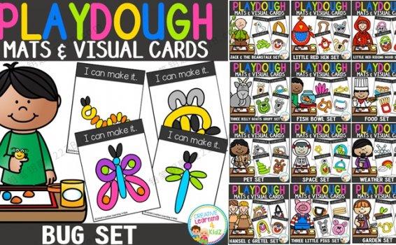 《Playdough Mats & Visual Cards》15册百种超轻粘土玩法视觉卡PDF 百度云网盘下载