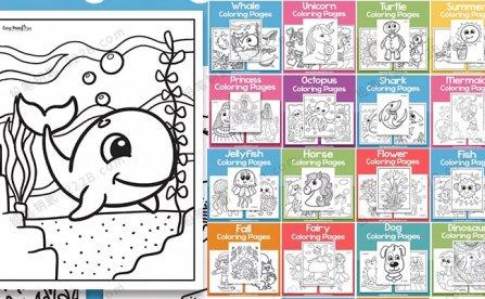 《18款主题涂色练习》570+张动物人物季节色彩认知启蒙PDF 百度云网盘下载